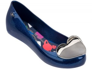 VIVIENNE WESTWOOD ANGLOMANIA + MELISSA ULTRAGIRL XIX SS18 Blue Glitter BFF