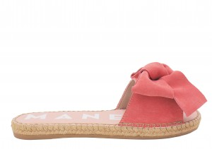 Manebi espadrilles flat sandals with bow  paradise pink
