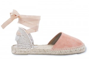 Manebi espadrilles sandals hamptons  pastel rose