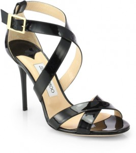 JIMMY CHOO LOTTIE SANDALS BLACK