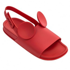 Melissa Beach Slide DISNEY SS18 Red