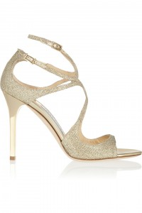 JIMMY CHOO LANG FABRIC GLITTER GOLD