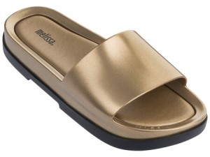 Melissa Beach Slide Platform  SS18  Black/Gold