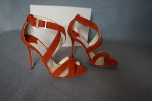 JIMMY CHOO LOTTIE SANDALS GINGER SUEDE