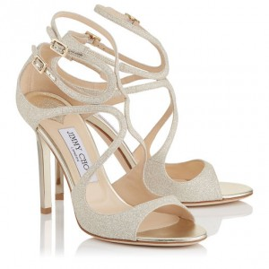 JIMMY CHOO LANG FABRIC GLITTER GOLD   (1) (1)