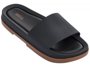 Melissa Beach Slide Platform  SS18   Black