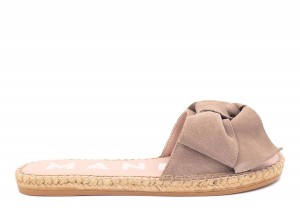 Manebi espadrilles flat sandals with bow taupe