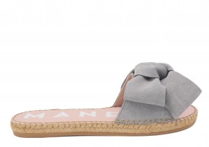Manebi espadrilles flat sandals with bow grey