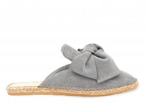 Manebi mule with bow  hamptons  taupe grey