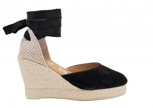 Manebi wedge sandal hamptons black
