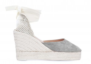 Manebi wedge sandal hamptons grey