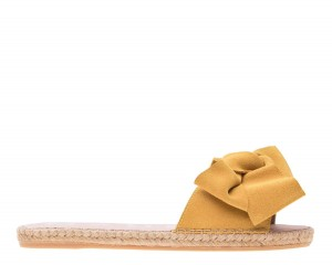 Manebi espadrilles flat sandals with bow  Sunny Yellow