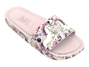 Melissa Beach Slide 3DB Rainbow Pink Unicorn SL19
