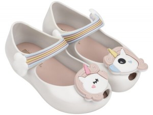 MINI MELISSA ULTRAGIRL Unicorn SS18 White pearl SL19  KIDS
