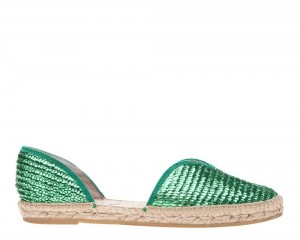Manebi espadrilles Open-side Flats  Emerald