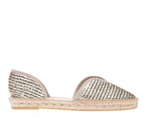Manebi espadrilles Open-side Flats  Platinum