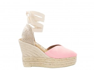 Manebi wedge sandal hamptons Pastel Rose