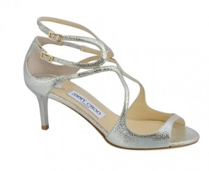 JIMMY CHOO LILA BRIDAL  GOLD SANDALS 6,5 CM